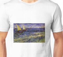 Van Gogh Ships Tilt Shift Unisex T-Shirt