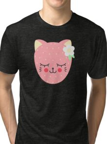 Cat Berry Tri-blend T-Shirt