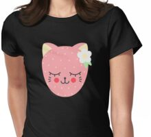 Cat Berry Womens Fitted T-Shirt