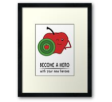 Captain Apple Framed Print