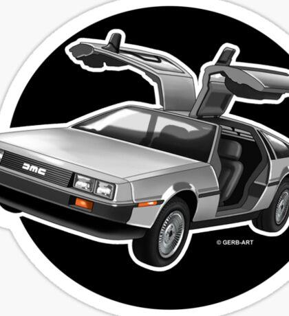 Delorean Iconic sportscar.. Sticker