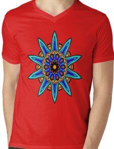 Funky Kaleidescope Flower  Mens V-Neck T-Shirt
