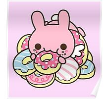 Rabbit Donut Poster