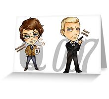 00Q the most powerful couple in MI6 - Skyfall Greeting Card