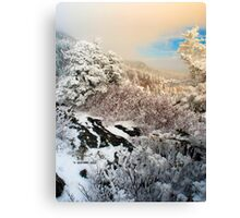 Beacon Heights in White Canvas Print