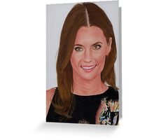 Stana Katic Greeting Card