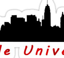 Temple University with Philly Skyline Sticker