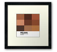 Melanin Pantone Framed Print