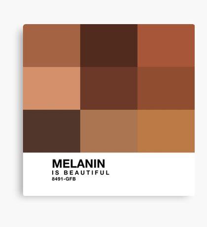 Melanin Pantone Canvas Print