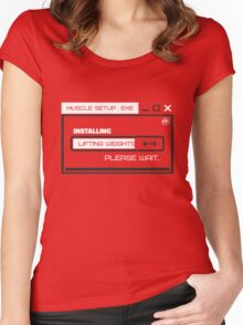MUSCLE_SETUP.EXE Women's Fitted Scoop T-Shirt