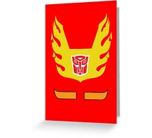 Hot Rod - Transformers 80s Greeting Card