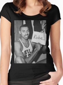 Kobe's 80 point game and Wilt's 100 point game Mashup  Women's Fitted Scoop T-Shirt
