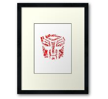 Transformers - Autobot Wordtee Framed Print