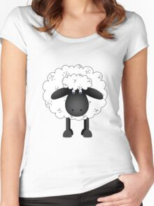 Sheep. Women's Fitted Scoop T-Shirt