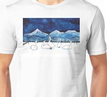 Winter swans under a beautiful starry night Unisex T-Shirt