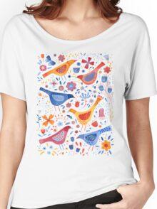 Birds in a Garden Women's Relaxed Fit T-Shirt