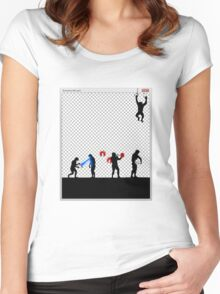 99 Steps of Progress - Photoshop Women's Fitted Scoop T-Shirt