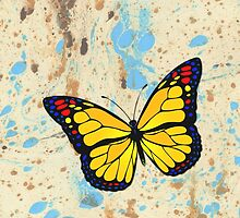 Yellow butterfly by Gaspar Avila