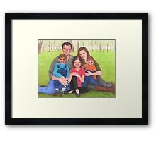 Caskett family  Framed Print