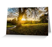 Sunset, Ivanhoe Golf Course Greeting Card