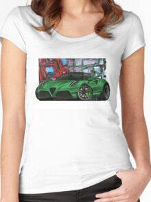 naquash design alfa romeo 4c Women's Fitted Scoop T-Shirt
