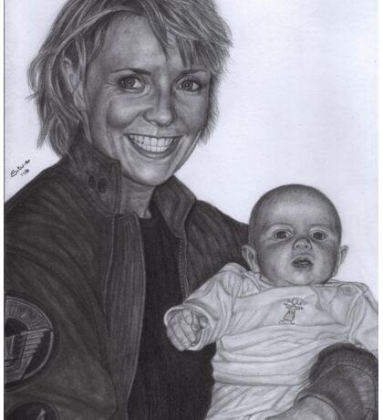 Amanda Tapping and baby Olivia Sticker