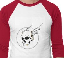 BLACKFLAGCAFE Men's Baseball ¾ T-Shirt