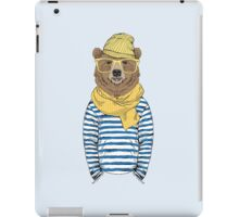 Funny bear dressed up in frock iPad Case/Skin
