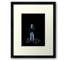 David Bowie As Tesla Framed Print