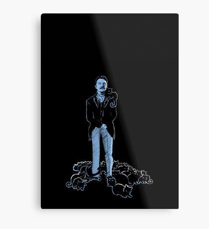David Bowie As Tesla Metal Print