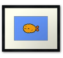 Cute prawn tempura Framed Print