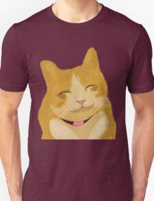 Cute Furry Brown Cat Smiling  Unisex T-Shirt