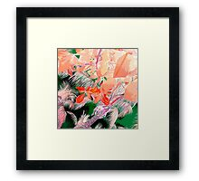 Peach Palms Framed Print