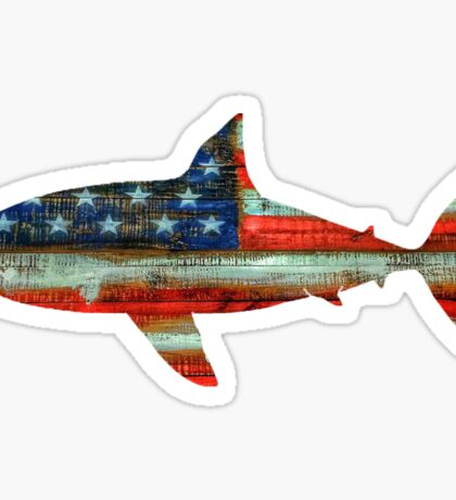USA Shark Sticker