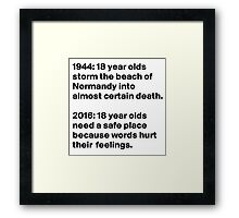 How The World Has changed Framed Print