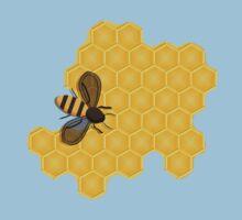 Honeybee on a Honeycomb Baby Tee