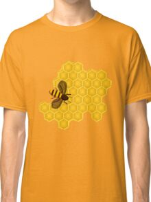 Honeybee on a Honeycomb Classic T-Shirt