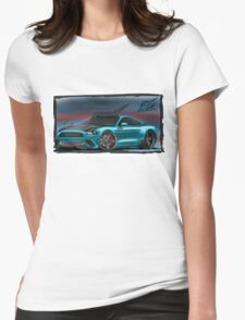 naquash design ford mustang Womens Fitted T-Shirt
