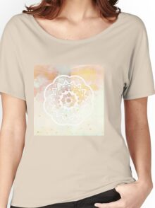 White mandala Women's Relaxed Fit T-Shirt