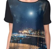 City landscape. Chiffon Top