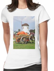 Vintage windmil in Cha Am,Thailand Womens Fitted T-Shirt