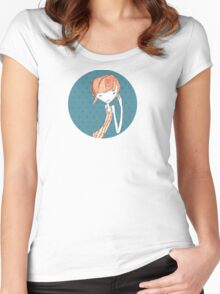 shy girl Women's Fitted Scoop T-Shirt