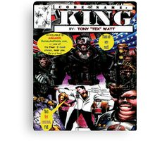 """Code Name: King""  - Comic Book Promo Poster  Canvas Print"
