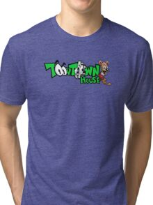 Toontown House Cartoon Tri-blend T-Shirt