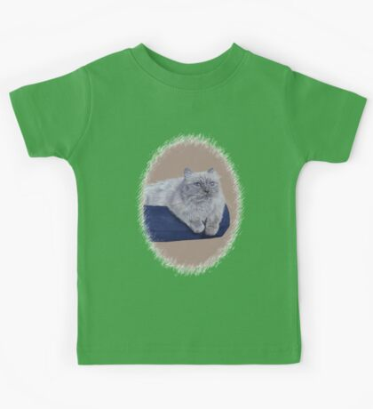 Bayou - A Portrait of a Himalayan Cat  Kids Tee
