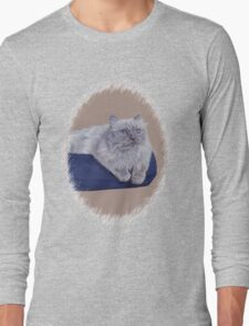 Bayou - A Portrait of a Himalayan Cat  Long Sleeve T-Shirt