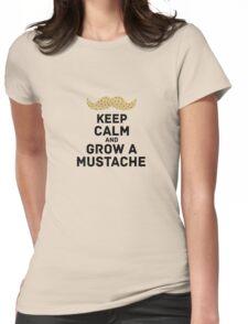 keep calm browndots Womens Fitted T-Shirt