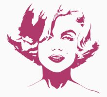 Marilyn Monroe - Fashion Model, Actress, and American Beauty Icon - Pink Outline Kids Clothes
