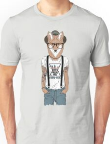 Fox hipster with tattoo Unisex T-Shirt