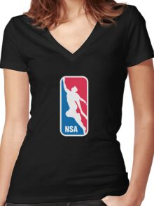 National Superhero Association Women's Fitted V-Neck T-Shirt